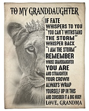 """WITHSTAND THE STORM - GRANDMA TO GRANDDAUGHTER Small Fleece Blanket - 30"""" x 40"""" front"""