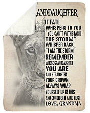 WITHSTAND THE STORM - GRANDMA TO GRANDDAUGHTER Sherpa Fleece Blanket tile