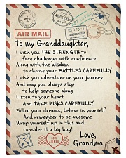 """FOLLOW YOUR DREAM - TO GRANDDAUGHTER FROM GRANDMA Small Fleece Blanket - 30"""" x 40"""" front"""