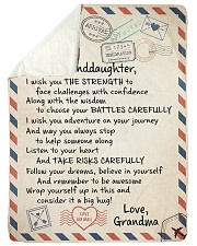 """FOLLOW YOUR DREAM - TO GRANDDAUGHTER FROM GRANDMA Large Sherpa Fleece Blanket - 60"""" x 80"""" thumbnail"""