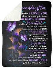 "I LOVE YOU - BEST GIFT FOR GRANDDAUGHTER Large Sherpa Fleece Blanket - 60"" x 80"" thumbnail"