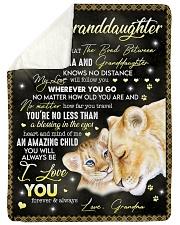 "I LOVE YOU FOREVER - GREAT GIFT FOR GRANDDAUGHTER Large Sherpa Fleece Blanket - 60"" x 80"" thumbnail"