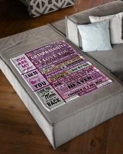 "BRING ME JOY - GRANDMA TO GRANDDAUGHTER Small Fleece Blanket - 30"" x 40"" aos-coral-fleece-blanket-30x40-lifestyle-front-03"