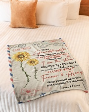 """BELIEVE IN YOURSELF - MIMI TO GRANDDAUGHTER Small Fleece Blanket - 30"""" x 40"""" aos-coral-fleece-blanket-30x40-lifestyle-front-01"""
