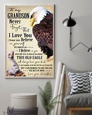 I BELIEVE IN YOU - SPECIAL GIFT FOR GRANDSON 11x17 Poster lifestyle-poster-1