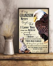 I BELIEVE IN YOU - SPECIAL GIFT FOR GRANDSON 11x17 Poster lifestyle-poster-3