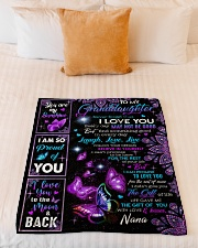 """I LOVE YOU - BEAUTIFUL GIFT TO GRANDDAUGHTER Small Fleece Blanket - 30"""" x 40"""" aos-coral-fleece-blanket-30x40-lifestyle-front-04"""