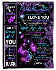"""I LOVE YOU - BEAUTIFUL GIFT TO GRANDDAUGHTER Small Fleece Blanket - 30"""" x 40"""" front"""