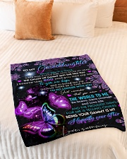 """THE WORLD TO ME - GRAMMY TO GRANDDAUGHTER Small Fleece Blanket - 30"""" x 40"""" aos-coral-fleece-blanket-30x40-lifestyle-front-01"""