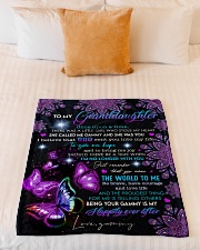 """THE WORLD TO ME - GRAMMY TO GRANDDAUGHTER Small Fleece Blanket - 30"""" x 40"""" aos-coral-fleece-blanket-30x40-lifestyle-front-04"""