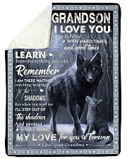 MY LOVE - PERFECT GIFT FOR GRANDSON Sherpa Fleece Blanket tile