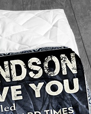 """MY LOVE - PERFECT GIFT FOR GRANDSON Quilt 50""""x60"""" - Throw aos-quilt-50x60-lifestyle-closeup-front-07"""