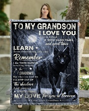 """MY LOVE - PERFECT GIFT FOR GRANDSON Quilt 50""""x60"""" - Throw aos-quilt-50x60-lifestyle-front-03"""