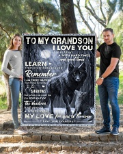 """MY LOVE - PERFECT GIFT FOR GRANDSON Quilt 50""""x60"""" - Throw aos-quilt-50x60-lifestyle-front-04"""