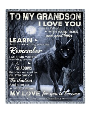 """MY LOVE - PERFECT GIFT FOR GRANDSON Quilt 50""""x60"""" - Throw front"""