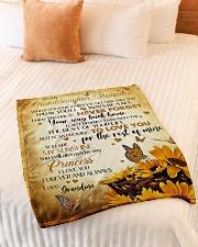 "MY SUNSHINE - BEST GIFT FOR GRANDDAUGHTER SHAUNDRA Small Fleece Blanket - 30"" x 40"" aos-coral-fleece-blanket-30x40-lifestyle-front-01"