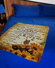 "MY SUNSHINE - BEST GIFT FOR GRANDDAUGHTER SHAUNDRA Small Fleece Blanket - 30"" x 40"" aos-coral-fleece-blanket-30x40-lifestyle-front-02"