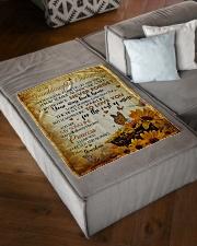 "MY SUNSHINE - BEST GIFT FOR GRANDDAUGHTER SHAUNDRA Small Fleece Blanket - 30"" x 40"" aos-coral-fleece-blanket-30x40-lifestyle-front-03"