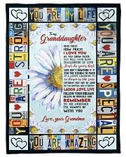 "I LOVE YOU - GRANDMA TO GRANDDAUGHTER Small Fleece Blanket - 30"" x 40"" front"