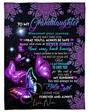 """YOUR WAY BACK HOME - TO GRANDAUGHTER FROM NAN Small Fleece Blanket - 30"""" x 40"""" front"""