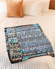 """WE LOVE YOU - AMAZING GIFT FOR GRANDDAUGHTER Small Fleece Blanket - 30"""" x 40"""" aos-coral-fleece-blanket-30x40-lifestyle-front-01"""