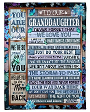 """WE LOVE YOU - AMAZING GIFT FOR GRANDDAUGHTER Small Fleece Blanket - 30"""" x 40"""" front"""