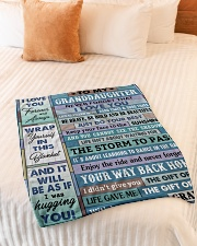 """JUST DO YOUR BEST - AMAZING GIFT FOR GRANDDAUGHTER Small Fleece Blanket - 30"""" x 40"""" aos-coral-fleece-blanket-30x40-lifestyle-front-01"""