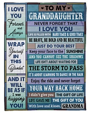 """JUST DO YOUR BEST - AMAZING GIFT FOR GRANDDAUGHTER Small Fleece Blanket - 30"""" x 40"""" front"""