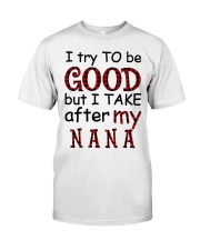 TRY TO BE GOOD -  GIFT FOR GRANDKIDS Premium Fit Mens Tee tile