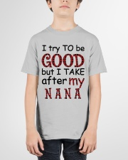 TRY TO BE GOOD -  GIFT FOR GRANDKIDS Youth T-Shirt garment-youth-tshirt-front-01