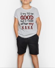 TRY TO BE GOOD -  GIFT FOR GRANDKIDS Youth T-Shirt lifestyle-youth-tshirt-front-1
