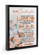 FOLLOW YOUR DREAM - GIFT FOR GRANDDAUGHTER Floating Framed Canvas Prints Black tile