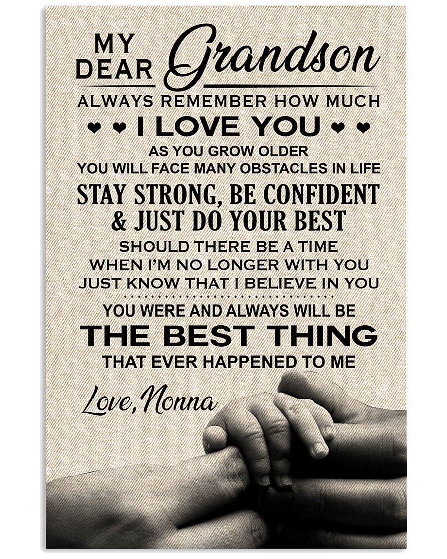 THE BEST THING - TO GRANDSON FROM NONNA 11x17 Poster
