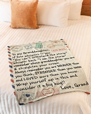 """STRAIGHTEN YOUR CROWN - GIFT FOR GRANDDAUGHTER  Small Fleece Blanket - 30"""" x 40"""" aos-coral-fleece-blanket-30x40-lifestyle-front-01"""