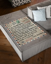 """STRAIGHTEN YOUR CROWN - GIFT FOR GRANDDAUGHTER  Small Fleece Blanket - 30"""" x 40"""" aos-coral-fleece-blanket-30x40-lifestyle-front-03"""