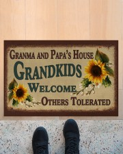 """WELCOME OTHERS TOLERATED -PERFECT GIFT FOR GRANDMA Doormat 22.5"""" x 15""""  aos-doormat-22-5x15-lifestyle-front-10"""