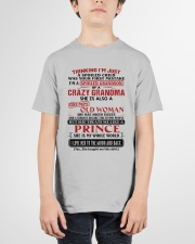 SHE IS MY WHOLE WORLD - BEST GIFT FOR GRANDSON Youth T-Shirt garment-youth-tshirt-front-01