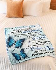 "MY BABY BOY - GRANDMA TO GRANDSON GUY Small Fleece Blanket - 30"" x 40"" aos-coral-fleece-blanket-30x40-lifestyle-front-01"