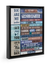 STRAIGHTEN YOUR CROWN - GIFT FOR GRANDDAUGHTER 11x14 Black Floating Framed Canvas Prints thumbnail