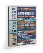 STRAIGHTEN YOUR CROWN - GIFT FOR GRANDDAUGHTER 11x14 White Floating Framed Canvas Prints thumbnail