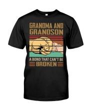 BOND CAN'T BE BROKEN - GIFT FOR GRANDMA GRANDSON  Classic T-Shirt tile