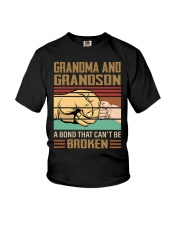 BOND CAN'T BE BROKEN - GIFT FOR GRANDMA GRANDSON  Youth T-Shirt front