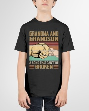 BOND CAN'T BE BROKEN - GIFT FOR GRANDMA GRANDSON  Youth T-Shirt garment-youth-tshirt-front-01