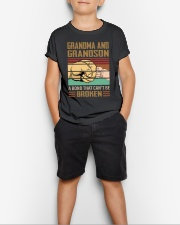 BOND CAN'T BE BROKEN - GIFT FOR GRANDMA GRANDSON  Youth T-Shirt lifestyle-youth-tshirt-front-1
