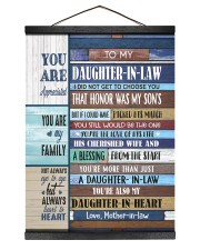 YOU ARE APPRECIATED-BEST GIFT FOR DAUGHTER-IN-LAW 12x16 Black Hanging Canvas thumbnail