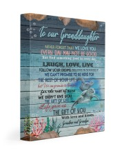 WE LOVE YOU - GREAT GIFT FOR GRANDDAUGHTER 11x14 Gallery Wrapped Canvas Prints front