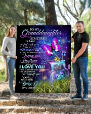 """I LOVE YOU - BEAUTIFUL GIFT FOR GRANDDAUGHTER Quilt 50""""x60"""" - Throw aos-quilt-50x60-lifestyle-front-04"""