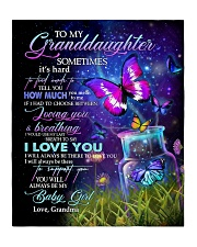 """I LOVE YOU - BEAUTIFUL GIFT FOR GRANDDAUGHTER Quilt 50""""x60"""" - Throw front"""