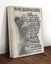 STRAIGTHEN YOUR CROWN GIFT FOR GRANDDAUGHTER 11x14 Gallery Wrapped Canvas Prints aos-canvas-pgw-11x14-lifestyle-front-17