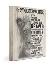 NEVER FORGET WHO YOU ARE -GRANDMA TO GRANDDAUGHTER 11x14 Gallery Wrapped Canvas Prints front